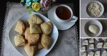 Пошаговый фото-рецепт: Печенье творожное «Гусиные лапки»