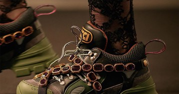 Gucci Debuts a Chunky Sneaker With Crystals & SEGA Lettering