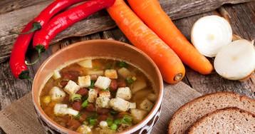 Домашний фасолевый суп