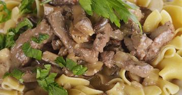 Бефстроганов из говядины – классический рецепт