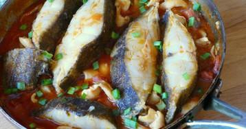 Палтус с кальмарами от Марчеллы Хазан