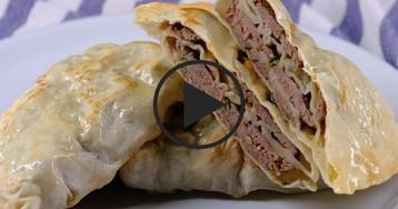 Видео-рецепт: Китайские многослойные лепешки
