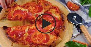 Видео-рецепт: Тонкая пицца