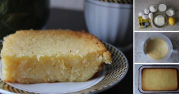 Пошаговый фото-рецепт: Ленивый лимонный пирог