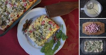 Пошаговый фото-рецепт: сырный пирог с сосисками на скорую руку