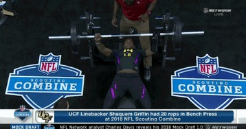 One-Handed Linebacker Shaquem Griffin Has No Problem With The Bench Press