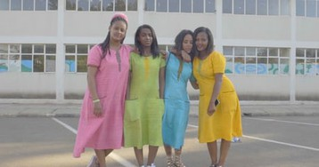 'Never retreat': all-female band Yegna bring girl power to Ethiopia – video