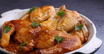 Цыплёнок табака (тапака) с соусом ниорцкали