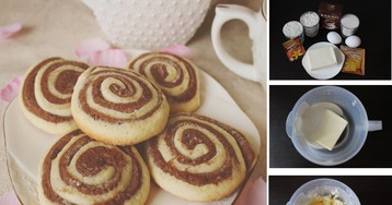 """Песочное печенье """"Серпантин"""" для детей: пошаговый фото рецепт"""
