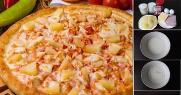 """Пицца """"Гавайская"""" на дрожжевом тесте: пошаговый фото рецепт"""