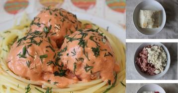 Сочные тефтели в томатно-сметанном соусе: пошаговый фото рецепт