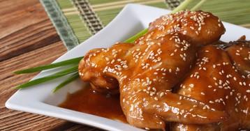 Аппетитные куриные крылья в соусе-глазури