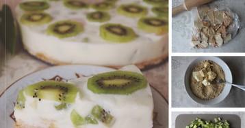 Пошаговый фото-рецепт: Йогуртовый торт с киви и бананом