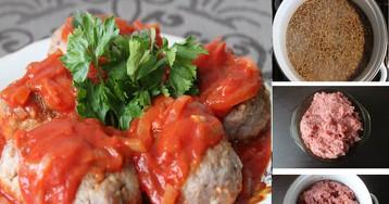Сочные гречневые котлетки без муки с томатным соусом: пошаговый фото рецепт