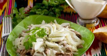 Салат «Ташкент» с редькой и говядиной