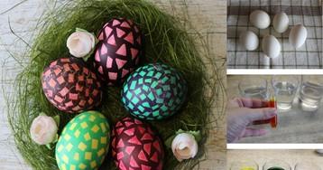 Как красиво покрасить пасхальные яйца своими руками: пошаговый фото рецепт