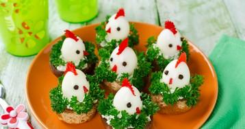 Пасхальные цыплята из перепелиных яиц