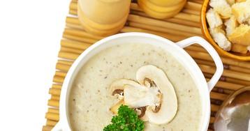 Нежнейший крем-суп из шампиньонов и картофеля