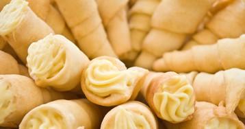 """Пирожное """"Трубочки"""" с масляным кремом"""