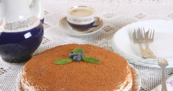 Быстрый творожный торт на сковороде