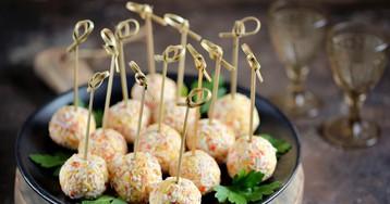 Крабовые шарики с сыром – вкусная закуска!