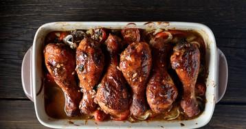 Запеченные куриные ножки в глянцевом соусе