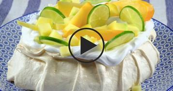 Видео-рецепт:  Десерт «Павлова»