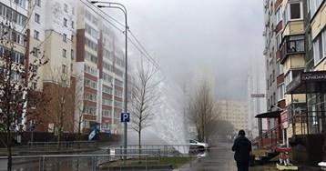 ВТюмени вовремя проверки теплосетей разорвало трубу, фонтан воды бил довысоты 10-этажки