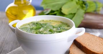 Суп из щавеля со сливками