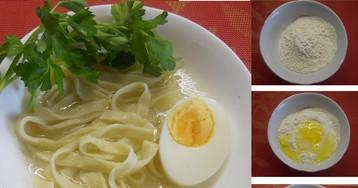 Домашняя яичная лапша: пошаговый фото рецепт