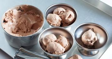 Сливочное мороженое с нутеллой