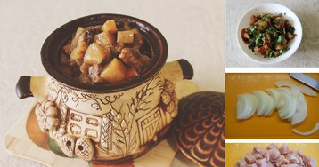 Пошаговый фото-рецепт: Мясо с черносливом в горшочках