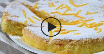 Видео-рецепт: Апельсиновый пирог без масла