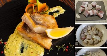 Рыба с лимонным соусом: пошаговый фото рецепт