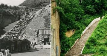 «Лестница мертвецов» в австрийском концлагере Маутхаузен