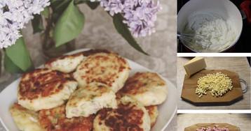Пышные манные оладушки с ветчиной и сыром: пошаговый фото рецепт