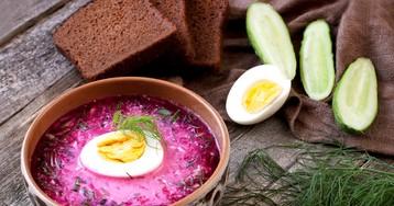 Холодный суп со свеклой и кефиром