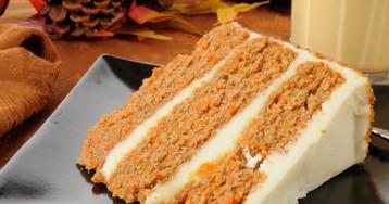 Праздничный морковный торт