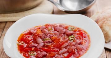 Томатный суп с фасолью – для любителей острых ощущений!