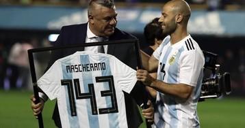 Маскерано побил рекорд Дзанетти по матчам за сборную Аргентины