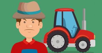 Анекдот про тракториста снеобычным измерительным прибором