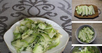 Домашние маринованные кабачки на скорую руку: пошаговый фото рецепт