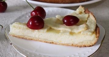 Открытый лимонный пирог с рикоттой: пошаговый фото рецепт