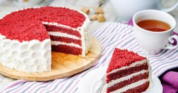Изумительно красивый торт «Красный бархат»