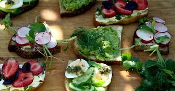Четыре простых идеи летних бутербродов