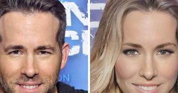 Com make e peruca, Ryan Reynolds ficaria A CARA da Blake Lively