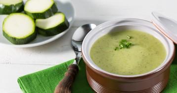 Лёгкий крем-суп из кабачков