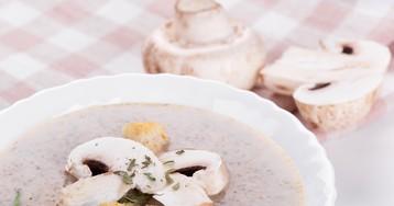 Аппетитный суп-пюре из шампиньонов