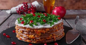 Домашний печеночный торт