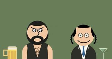 Анекдот про араба, который назло еврею весь бар выпивкой угощал